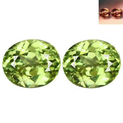 1.23Ct IF [2Pc] Matching Pair Oval Cut 6 x 4 mm Color Change Diaspore
