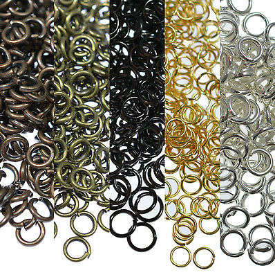 Lots 4mm-20mm Open Jump Rings Split Findings Jewelry Making Craft Round Oval