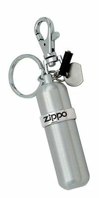 Zippo Compact Aluminum FUEL CANISTER w/ Key Ring + Swivel Snap, 121503