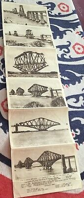 The Forth Road Bridge Scotland Six Photo Letter Card Construction Of The Bridge
