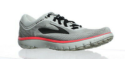 424016e31f0 Brooks Womens Pureflow 7 Grey Black Pink Running Shoes Size 8 (141836)