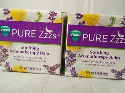 Vicks PURE Zzzs Soothing Aromatherapy Balm, 1.76 oz each (2pk) fresh & new