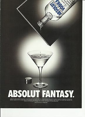 ABSOLUT FANTASY. - 2000 Absolut Vodka print ad