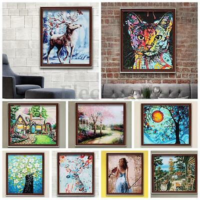 DIY Hand Paint Digital Oil Painting By Number Kit Canvas Wall Art Acrylic Decor