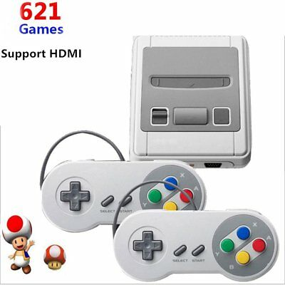 US Mini Retro Game Console Entertainment HDMI Built-in 621 Super Nintendo Game
