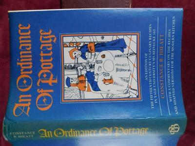 ORDINANCE of POTTAGE: 15TH CENTURY CULINARY RECIPES by HIEATT/MEDIEVAL/RARE $90+
