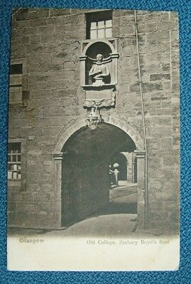 Glasgow, Old College, Zachary Boyd's Bust  (J. M. Co) - c1910