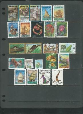 Tanzania Lot 2 Used  selection attractive lot -nice animals/ships-see scan [173]