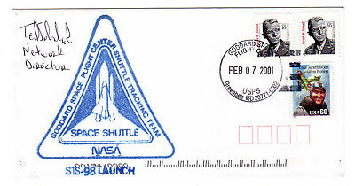 STS 98 International Space Station Mission Greenbelt Goddard pmk Souv Env SIGNED