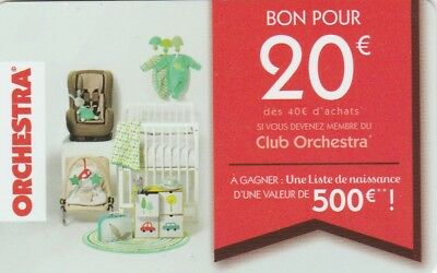 Carte Cadeau  Gift Card -  Orchestra  (France)