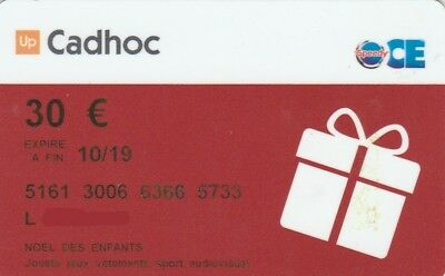 CARTE CADEAU  GIFT CARD -   CADHOC  Speedy 30 ( FRANCE )