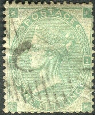 1862-64 1/- Green Plate 1 Used in Constantinople Sg 90 V82472
