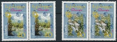 [H15800] Georgia 2001 EUROPA Cept. Good set of stamps X2 IN PAIRS very fine MNH