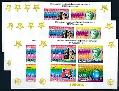 [H16239] Chad 2006 EUROPA Cept. Good IMPERFORATED sheet X10 very fine MNH