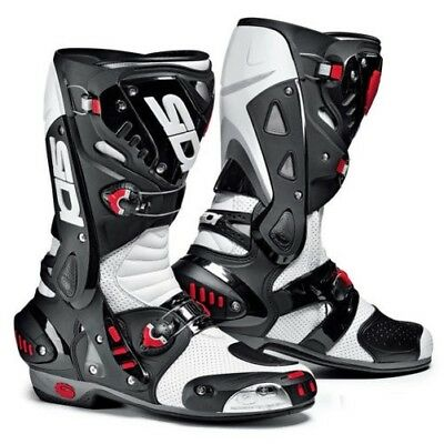 Sidi Vortice Air Motorcycle Motorbike Sports Race Boots - White/Black