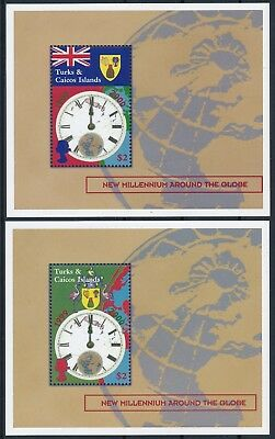 [H16248] Turks & Caicos 2000 MILLENIUM Good set of 2 sheets very fine MNH