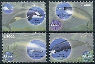 [H16471] Ghana 2001 WHALES - ORCA - Marina life Good set of stamps very fine MNH