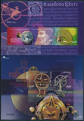 [HG25082] Portugal 2002 ASTRONOMY - SPACE Good lot of 2 sheets very fine MNH