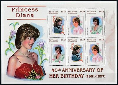 [HG25605] St Vincent Grenadines 2001 LADY DI - Royalty Good sheet very fine MNH