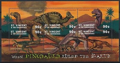 [HG25608] St Vincent Grenadines 2001 DINOSAURS - Fauna Good sheet very fine MNH