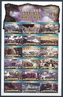 [HG25627] Antigua & Barbuda 2002 AMERICAN CIVIL WAR Good sheet very fine MNH