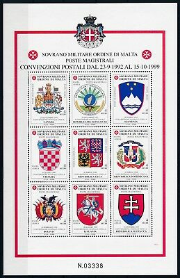 [HG25661] Malta After 2000 EMBLEMS - AIRMAIL Good sheet very fine MNH