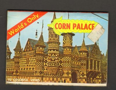 Undated Travel Souvenir Foldout Miniature Photographs Corn Palace Mitchell SD
