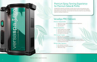 Versaspa Pro Spray Tan Booth for tanning bed Own $19 Per Day