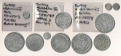 11 TURKISH COINS (1700's & 1800's) NICE LOT !!! YOU ID MOST >> NO RESERVE