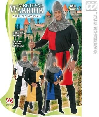 Mens Medieval Warrior Costume for St George Knight Medieval Fancy Dress