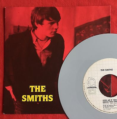 THE SMITHS -Stop Me If You Think/Girlfriend In A Coma- German Grey Vinyl 7""