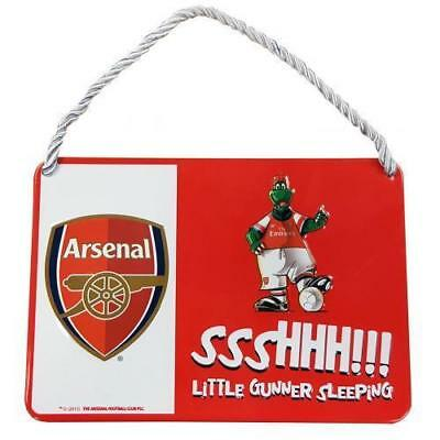 Arsenal Fc Metal Bed Room Sign Little Gunner Mascot Official Birthday Gift Xmas