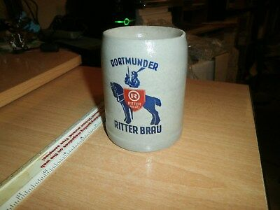 VINTAGE Dortmunder Ritter Brau Stein Mug 0.3L Made in Germany Knight Logo