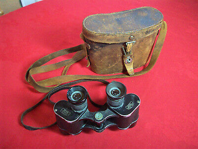 1930's CARL ZEISS 'Telex' 6x24 Binoculars field glasses + original leather case