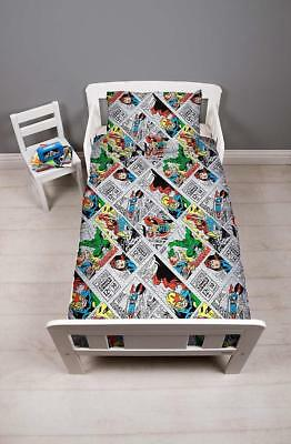 Disney Marvel Comics 'Retro' Junior Toddler Bundle 4 in 1 To Fit Cot Bed New