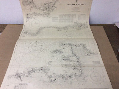 1945 English Channel-Middle Sheet Plymouth/Jersey Guernsey Seekarte N 796