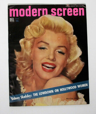 Complete March 1954 Modern Screen Magazine Marilyn Monroe Cover Tab Hunter More