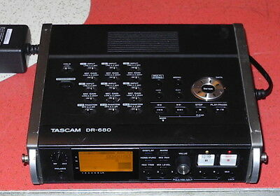Tascam DR-680 8-track Portable Digital Field Audio Recorder w/ Power Supply!