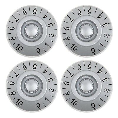 4Pcs Grey Guitar Volume Tone Speed Control Knobs for Les Paul Electric Guitars