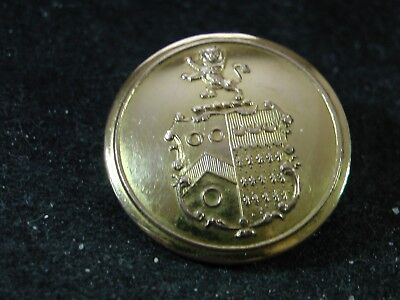 GORING FAMILY COAT of ARMS w CREST 27mm GILT LIVERY BUTTON G. BOGGET 1824-1835