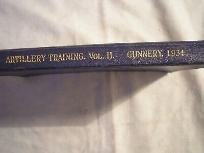British Army Royal Artillery Gunnery Manual 1934 Military History Southend Essex