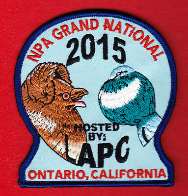 Los Angeles Pigeon Club~2015 Npa National~Exhibitor Patch~New