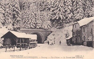Cpa  Bussang  Vue D Hiver  Le Tunnel  293