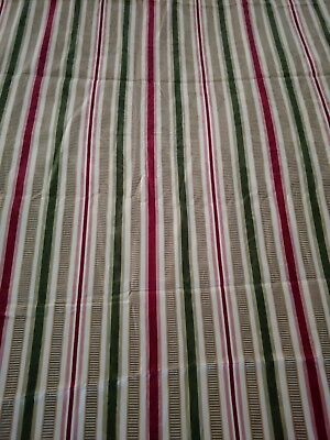 3+ Yds STRIPE JACQUARD Fabric 55W DECORATOR Upholstery Drapery MATERIAL CURTAINS
