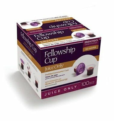 Fellowship Cup Juice-Only Prefilled Communion Cups, Box of 100