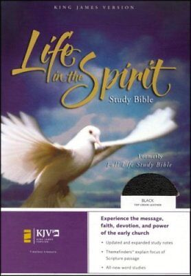 KJV Life in the Spirit Study Bible, Top Grain Leather, Black,  Thumb-Indexed