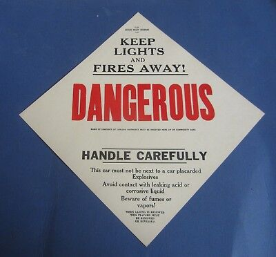 Old Vintage - LEHIGH VALLEY Railroad - DANGEROUS - TRAIN CAR SIGN