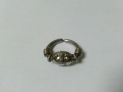 Egyptian Scarab Pewter Historical Ring