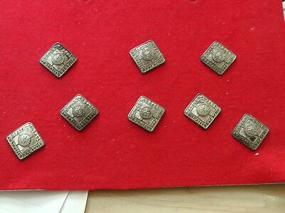 8 VICTORIAN SCOTTISH PIPERS LOZENGE BUTTONS 19mm BONNIE PRINCE CHARLIE JACKET