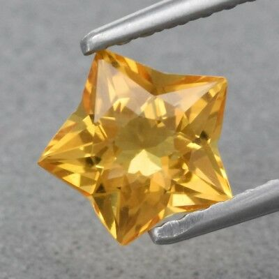 Top! VVS 0.76ct 6.5x6.3mm Star Natural Yellow Citrine, Brazil